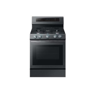 Samsung Appliances5.8 cu. ft. True Convection Freestanding Gas Range with Illuminated Knobs in Black Stainless Steel