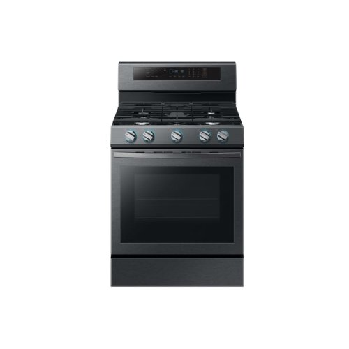 5.8 cu. ft. True Convection Freestanding Gas Range with Illuminated Knobs in Black Stainless Steel