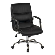 Managers Chair With Chrome Frame