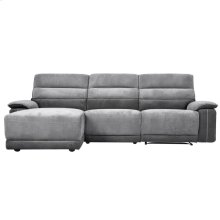 3-Piece Modular Reclining Sectional with Left Chaise