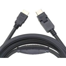 20' HDMI Cable; Includes 1 pivoting end and 1 straight end