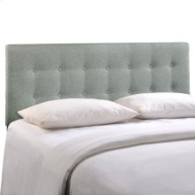 Emily Queen Upholstered Fabric Headboard in Gray