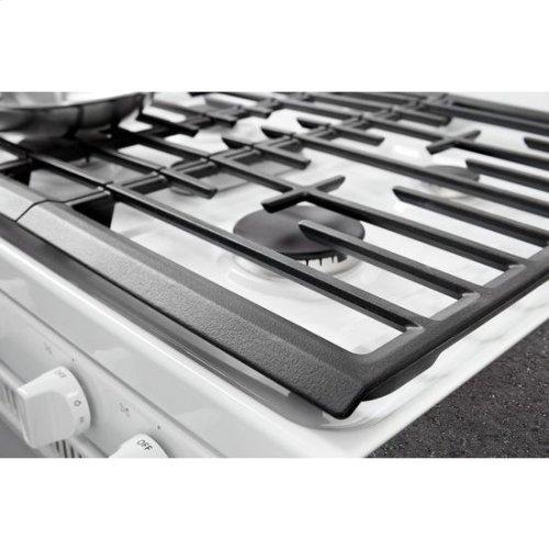 Whirlpool® 5.0 cu. ft. Freestanding Gas Range with Center Oval Burner - White
