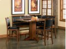 Lancaster 8 Piece Counter Height Dining Room Set (table 4 chairs 2 benches corner bench) Product Image