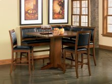 Lancaster 8 Piece Counter Height Dining Room Set (table 4 chairs 2 benches corner bench)