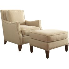 Haynes Chair and Ottoman with Nailhead Trim