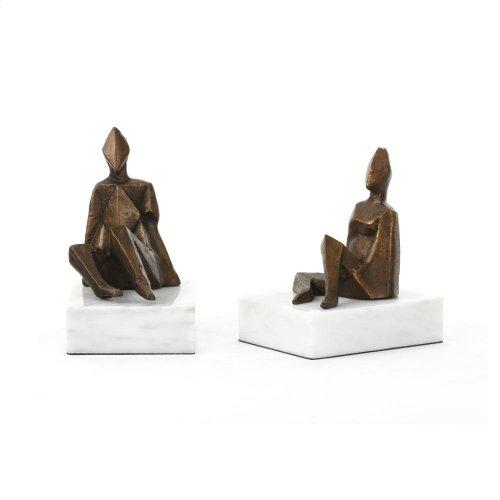 Duet Statue (Pair), Bronze