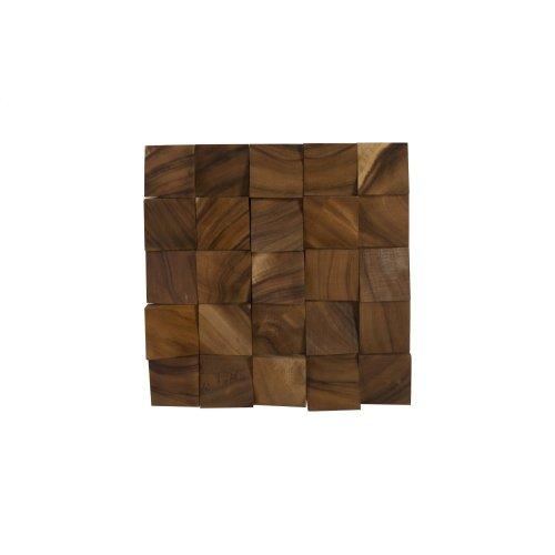 Blocks Wall Tile, Chamcha Wood, Natural