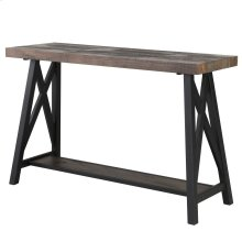 Langport Console Table in Rustic Oak