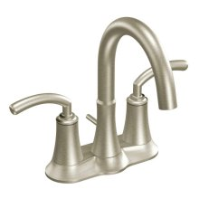 Icon brushed nickel two-handle bathroom faucet