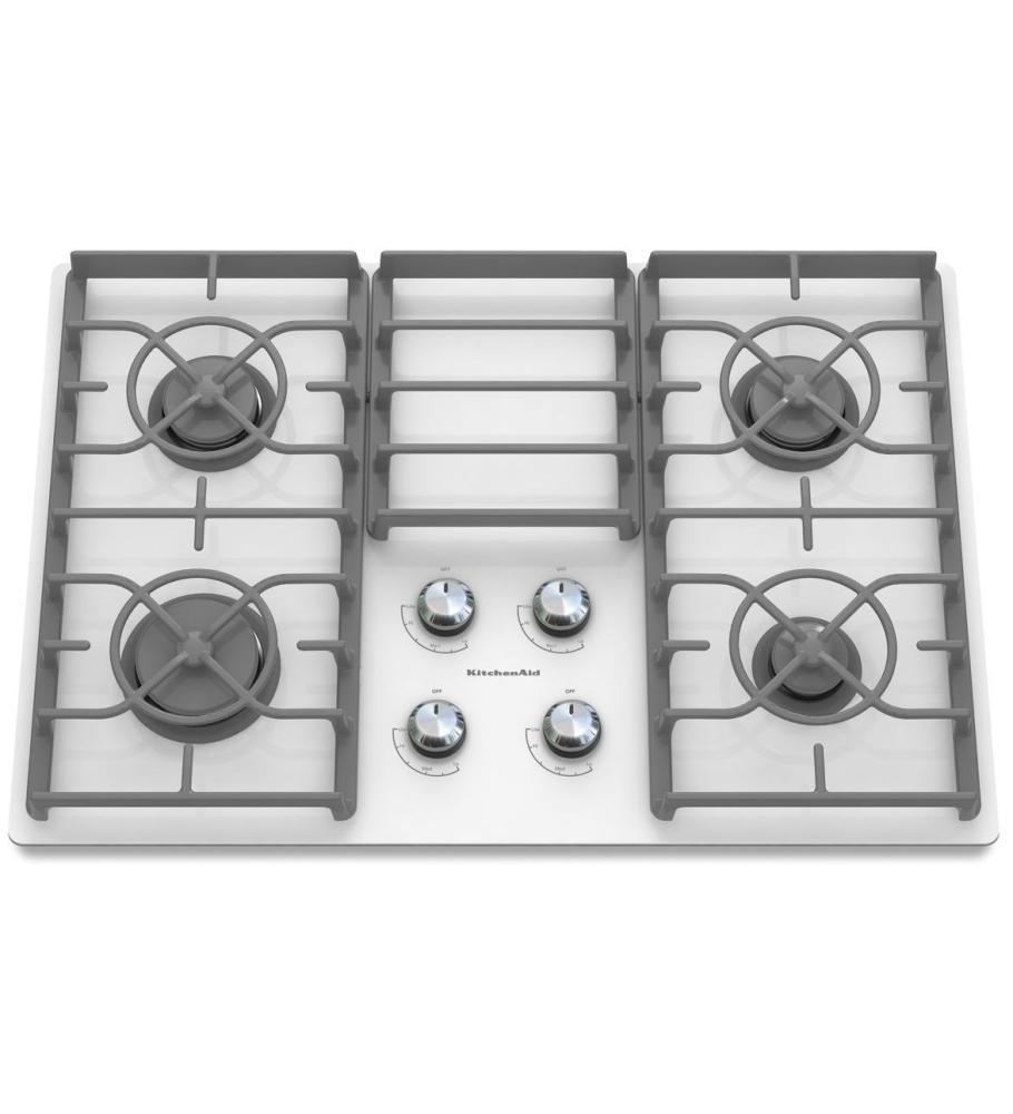 KitchenAid® 30-Inch 4-Burner Gas Cooktop, Architect® Series II - White