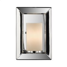 Smyth 1 Light Wall Sconce in Chrome with Opal Glass