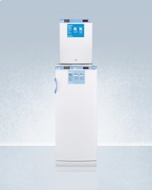 Stacked Combination of Ffar10med2 Auto Defrost All-refrigerator and Fs30lmed2 Compact Manual Defrost All-freezer, Both With Locks, Digital Controls, and Nist Calibrated Alarm/thermometers