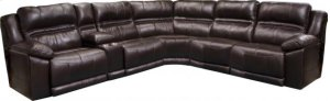 Power Headrest Lay Flat RSF Recliner w/Extended Ottoman