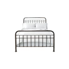 Metal Bed In Antique Bronze Finish