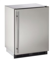 """1000 Series 24"""" Outdoor Refrigerator With Stainless Solid (lock) Finish and Field Reversible Door Swing (115 Volts / 60 Hz)"""