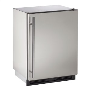 "U-Line 1000 Series 24"" Outdoor Refrigerator With Stainless Solid (Lock) Finish And Field Reversible Door Swing (115 Volts / 60 Hz)"