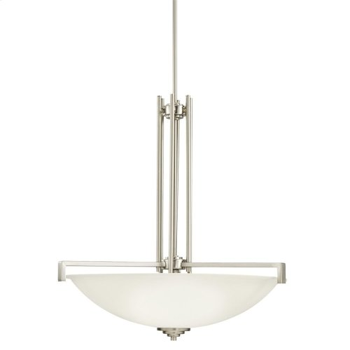 Eileen 4 Light Pendant with LED Bulbs Brushed Nickel