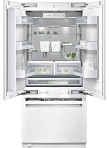 "Bottom freezer RY 491 701 fully integrated Width 36"" (91.4 cm), Height 84"" (213.4 cm) Three-door bottom freezer with integrated ice maker"