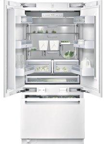 "Bottom freezer RY 491 701 fully integrated Width 36"" (91.4 cm), Height 84"" (213.4 cm) Three-door bottom freezer with integrated ice maker"