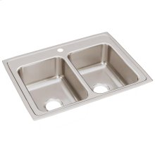 """Elkay Lustertone Classic Stainless Steel 29"""" x 22"""" x 7-5/8"""", Equal Double Bowl Drop-in Sink"""