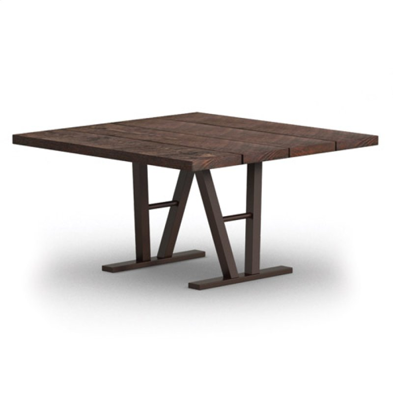 SD In By Homecrest Outdoor Living In Saint Croix VI - 48 square dining table with leaf