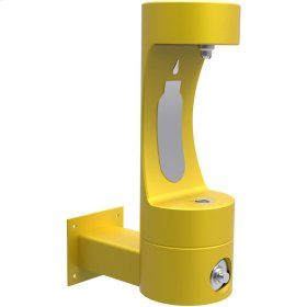 Elkay Outdoor ezH2O Bottle Filling Station Wall Mount, Non-Filtered Non-Refrigerated Freeze Resistant Yellow