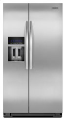 Monochromatic Stainless Steel KitchenAid® 23 Cu. Ft. Counter-Depth Side-by-Side Refrigerator, Architect® Series II Product Image