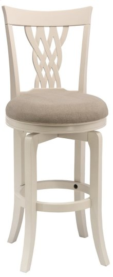 Embassy Swivel Bar Stool - White/ecru