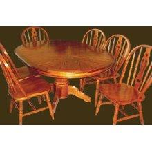 Sunburst Oak Veneer Wood Edge-sp Table