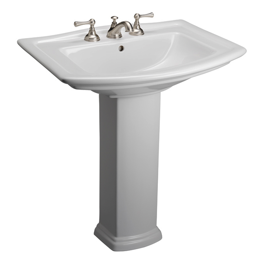 Washington 550 Pedestal Lavatory - White