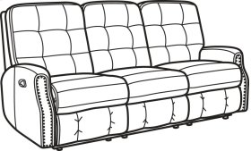Devon Leather Reclining Sofa with Nailhead Trim