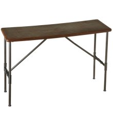 Leather Top Console Table