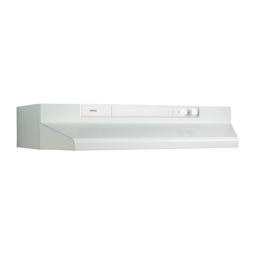 "30"" 220 CFM White-on-White Under-Cabinet Range Hood"