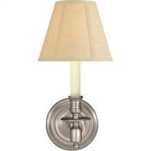 Visual Comfort S2110AN-T Studio French Library 1 Light 6 inch Antique Nickel Decorative Wall Light in Tissue Silk