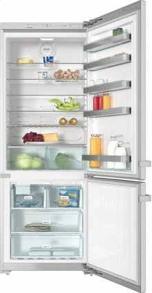 "KFN 15943 DE edt/cs Freestanding fridge-freezer 30"" (75 cm) wide for a lot of storage space."