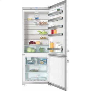 "MieleKFN 15943 DE edt/cs Freestanding fridge-freezer 30"" (75 cm) wide for a lot of storage space."