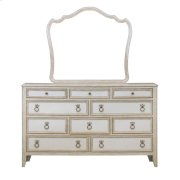 Reece 10 Drawer Dresser in Distressed Cream / White Product Image