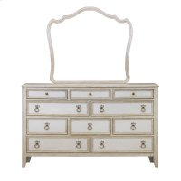 Reece Dresser Mirror in Distressed Cream / White Product Image