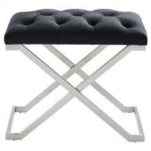 Aldo Single Bench in Black and Silver