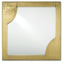 Morneau Brass Square Mirror - 24h x 24w x 1.75d