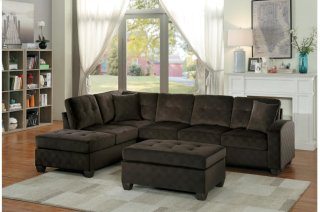 Emilio Sectional Chocolate