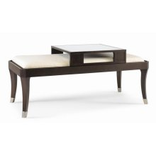 Tribeca Uph Top Cocktail Table With Sliding Serving Tray