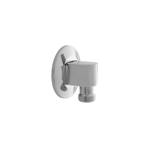 Satin Nickel - 90° Water Supply Elbow with Escutcheon- No Pinmount