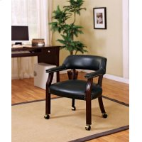 Traditional Black Home Office Chair Product Image