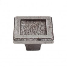 Square Inset Knob 2 Inch - Cast Iron
