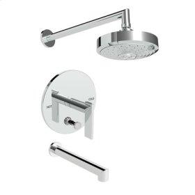 Antique-Nickel Balanced Pressure Tub & Shower Trim Set