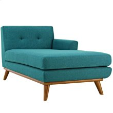 Engage Right-Facing Upholstered Fabric Chaise in Teal