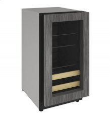 "2000 Series 18"" Beverage Center With Integrated Frame Finish and Field Reversible Door Swing"