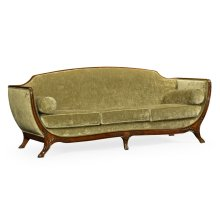 Empire Style Sofa (Mahogany/Velvet Lime)